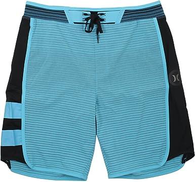 88390154da Image Unavailable. Image not available for. Color: Hurley Phantom Hyperweave  Motion Boardshorts Stripe Chlorine Blue Mens 40