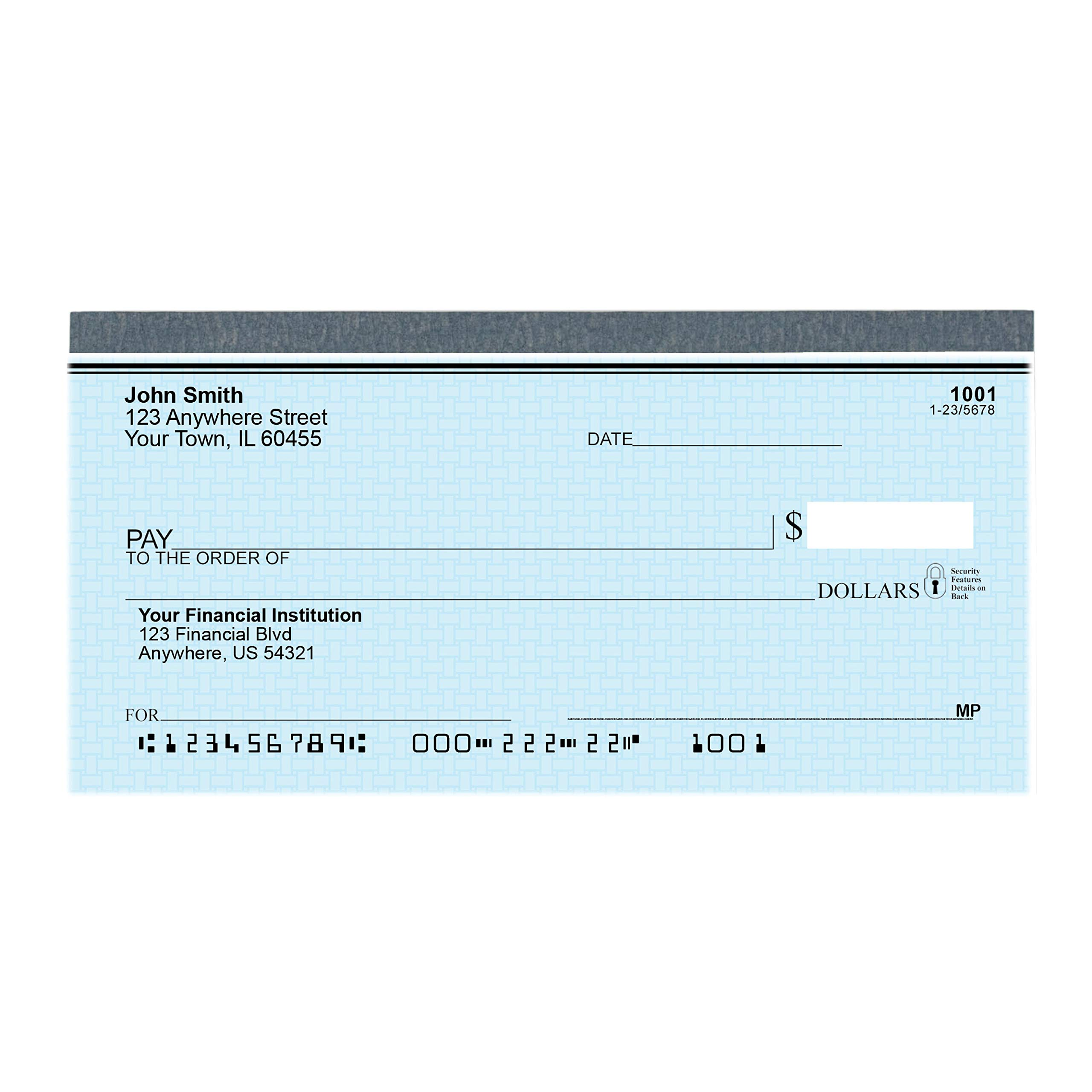 Top Tear Blue Safety Personal Checks - Value Priced (4 Boxes of Singles, Qty. 500) by Carousel Checks Inc.