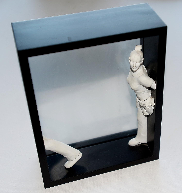 see through art box wooden photo frame: Amazon.co.uk: Kitchen & Home
