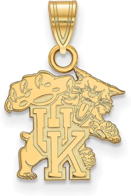 10k Yellow Gold University of Kentucky Wildcats Mascot Full Body Pendant 14x13mm
