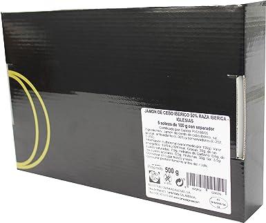 IGLESIAS - Jamón Ibérico Loncheado 500 g (5 uds de 100g): Amazon.es: Alimentación y bebidas