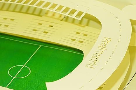 Real Madrid estadio Santiago Bernabéu diseño 3D surgir Tarjeta de ...