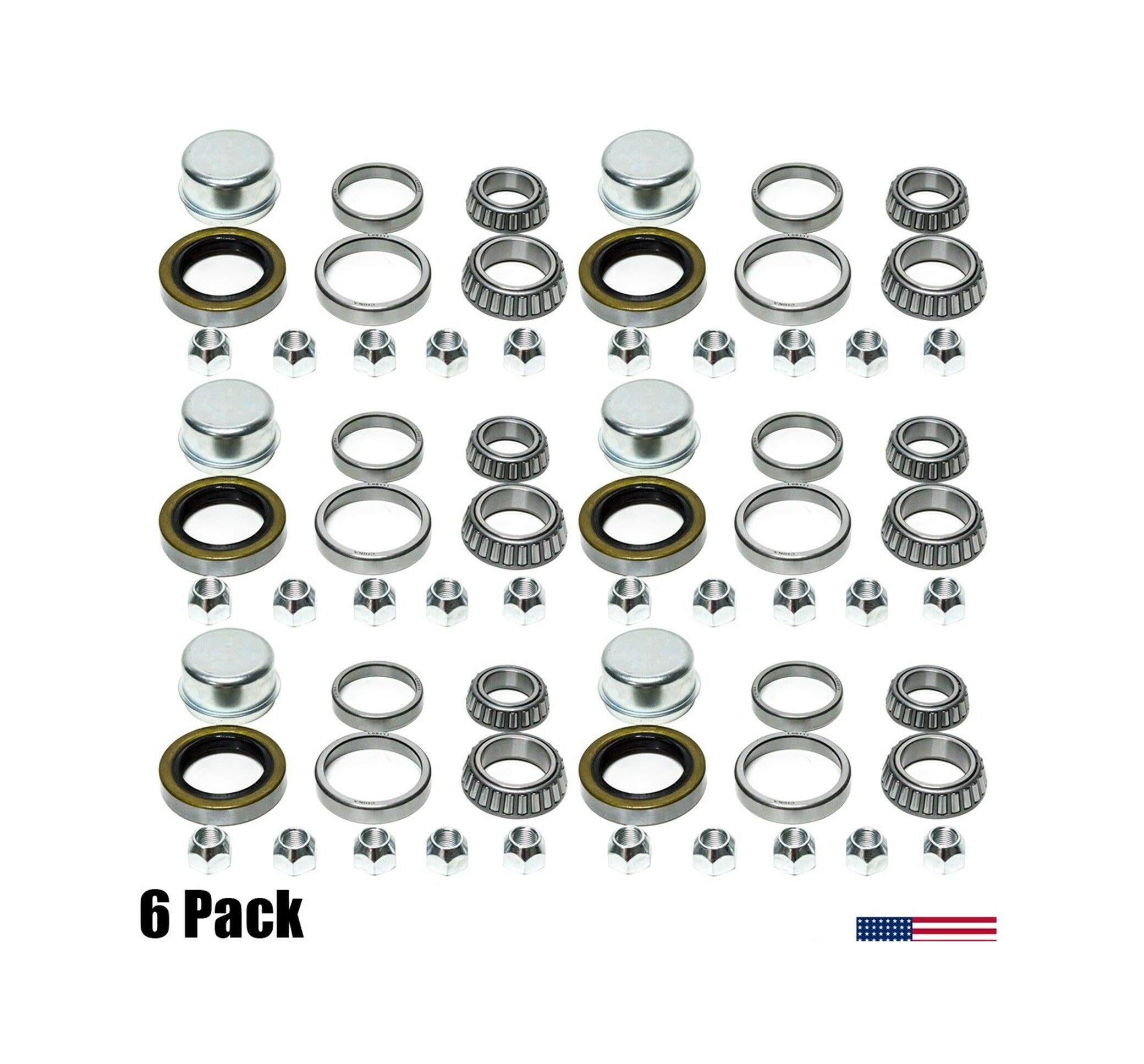 (6-Packs) Nib Trailer Wheel Bearing Kits L68149 L44649 3500# 1.719'' Spindle #84 Axle by LMParts