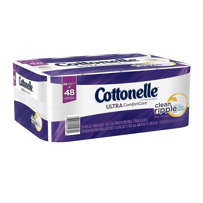 Cottonelle Ultra Comfort Care Double Roll Toilet Paper, 24 Count ...