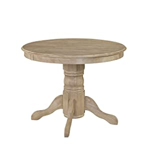 """Home Styles 5170-30 Classic Round Pedestal Dining Table, W-42"""", D-42"""", H-30"""", White Wash"""