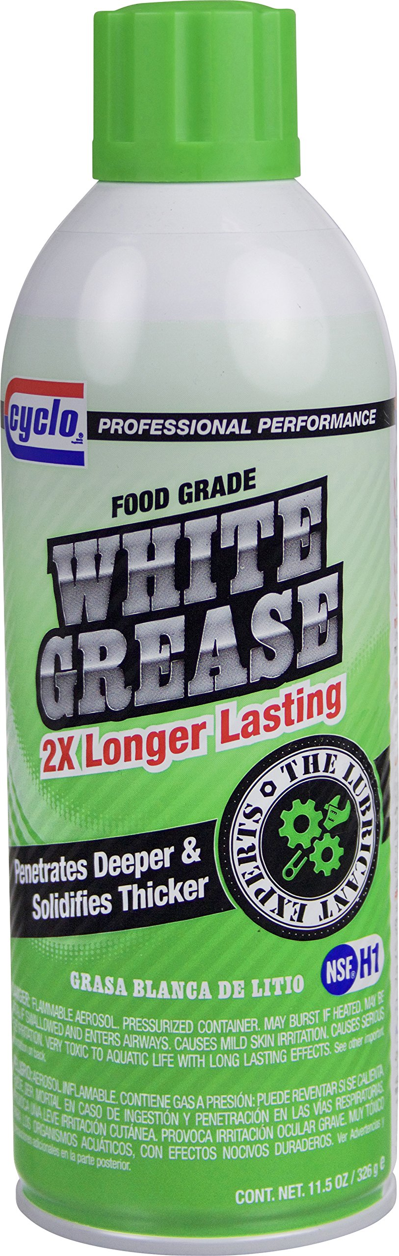 Cyclo White Grease Lithium Lubricant, 11.5 fl oz, Case of 12