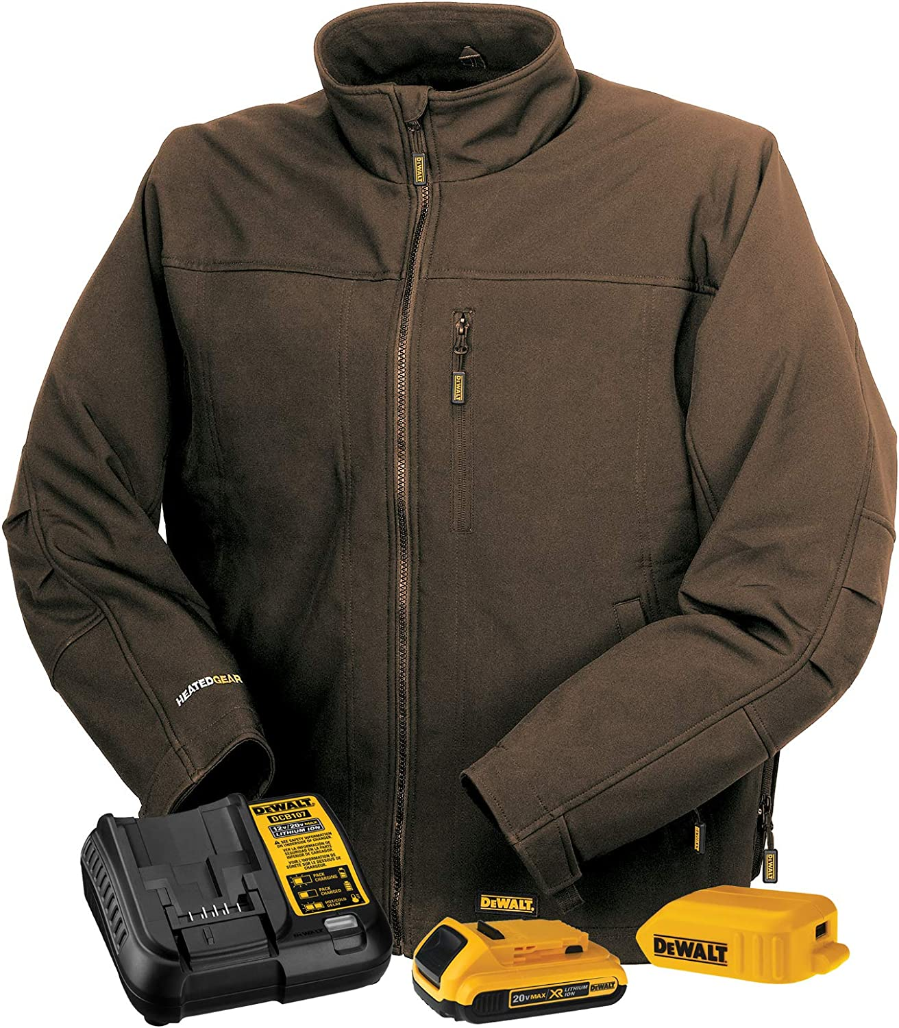 DEWALT DCHJ060A Heated Soft Shell Jacket Kit with 2.0Ah Battery and Charger