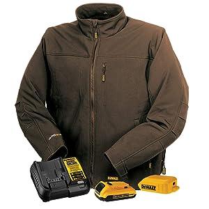 DEWALT DCHJ060ATD1-XL Heated Soft Shell Jacket, XL, Tobacco