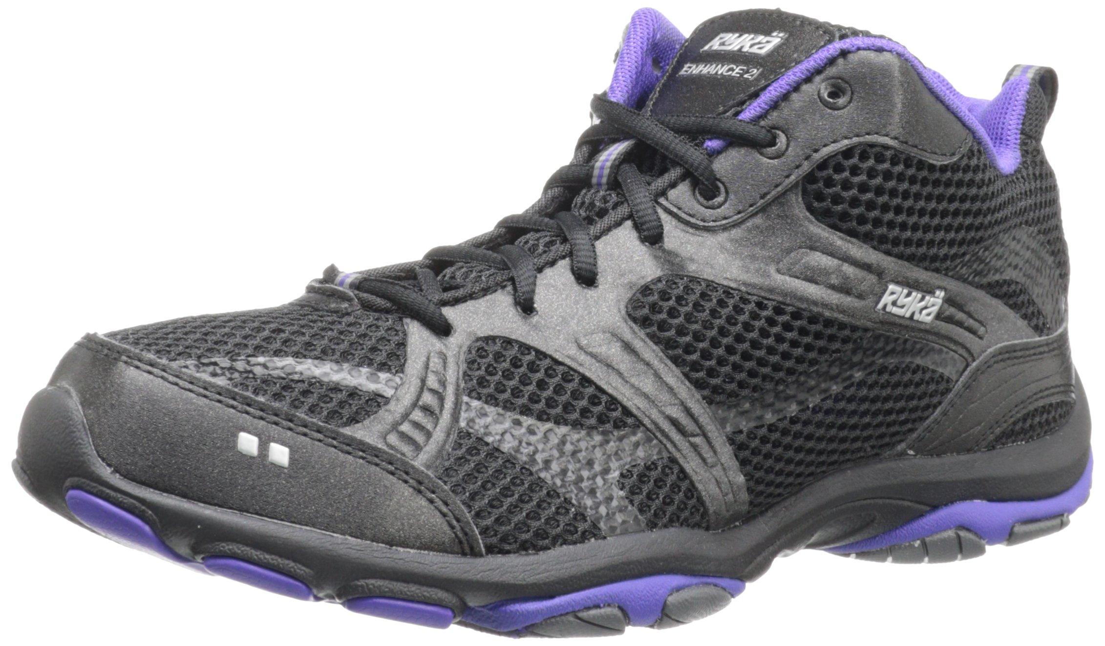 Ryka Women's Enhance 2 Cross-Training Shoe,Black/Dark Purple/Dark Grey,5 M US