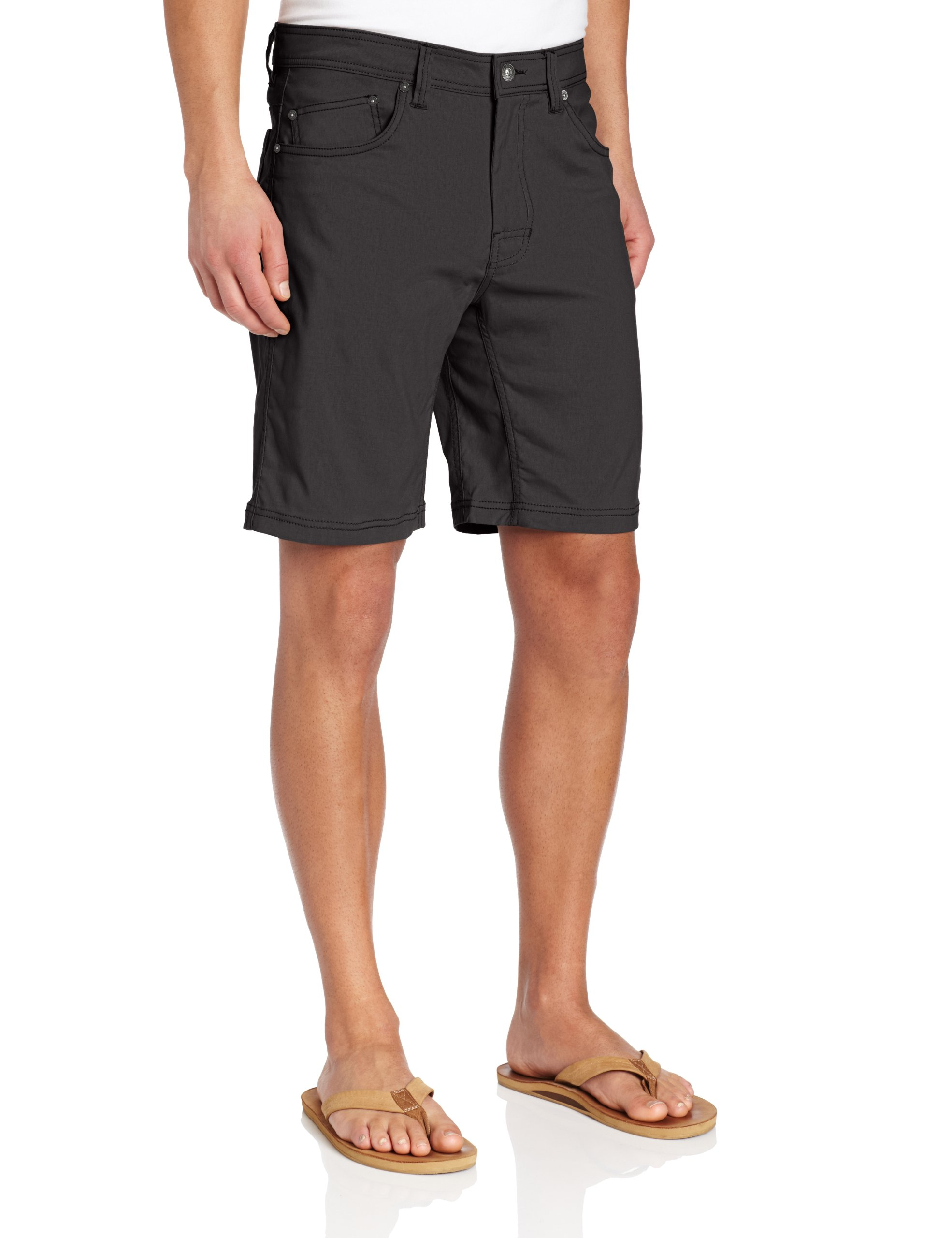 prAna Men's Brion Shorts, 36, Charcoal