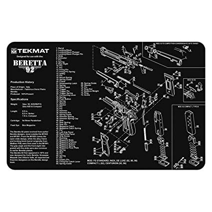 Amazon.com : TekMat Beretta 92-M9 Cleaning Mat / 11 x 17 Thick ...