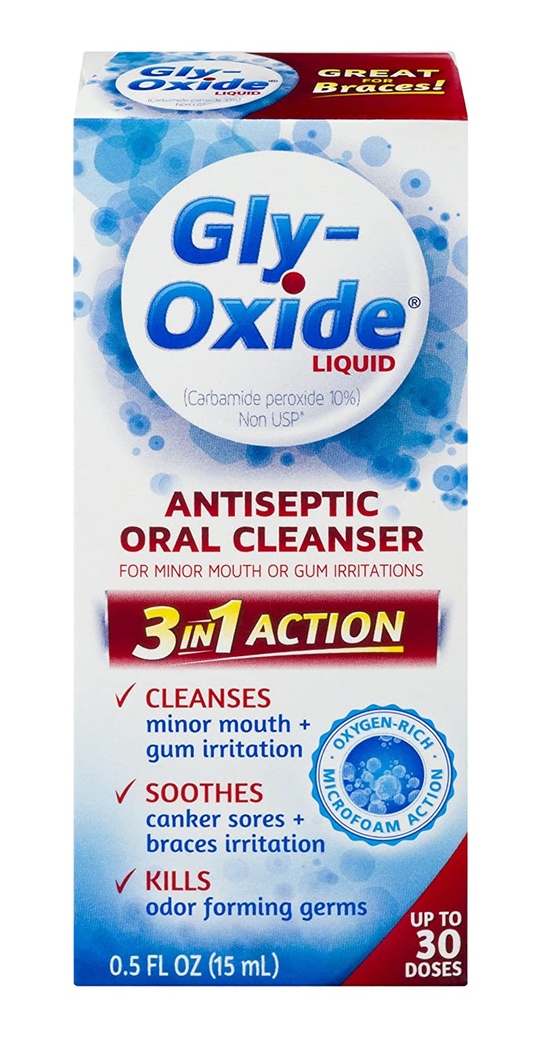 Gly-Oxide Liquid Antiseptic Oral Cleanser, 00.5 Fluid Ounce Medtech Product Inc. TRTAZ11A
