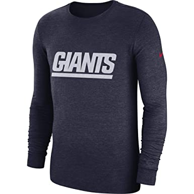 Nike Men s New York Giants Tri Blend Historic Crackle Long Sleeve Shirt  College Navy Size Small at Amazon Men s Clothing store  c1f03c873