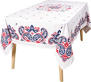 KAF Home Americana Table Linens Collection | Perfect for Barbecuing, Entertaining, and Fourth of July (Americana, 60 x 104)
