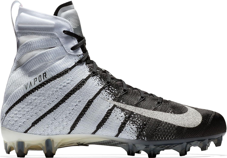 Nike Vapor Untouchable 3 Elite Mens Football Cleats (10, 白い/黒/Metallic 銀)