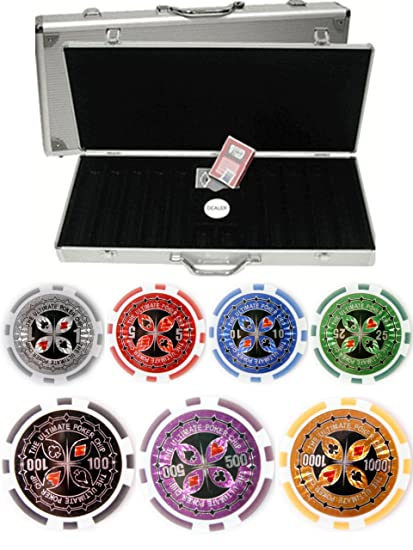Amazon.com: Ultimate Juego de Poker Laser 500 chip 14 g ...