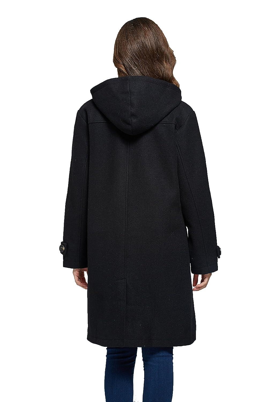 Amazon.com: Camii Mia Womens Vintage Hooded Wool Blend Duffle Toggle Coat: Clothing