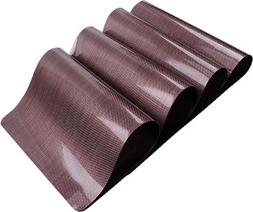 Juego de 4 tapetes individuales para mesa de comedor o cocina de DinaChef, bordes sellados térmicos de alta calidad, reversibles y grandes, diseño rectangular: Amazon.es: Hogar