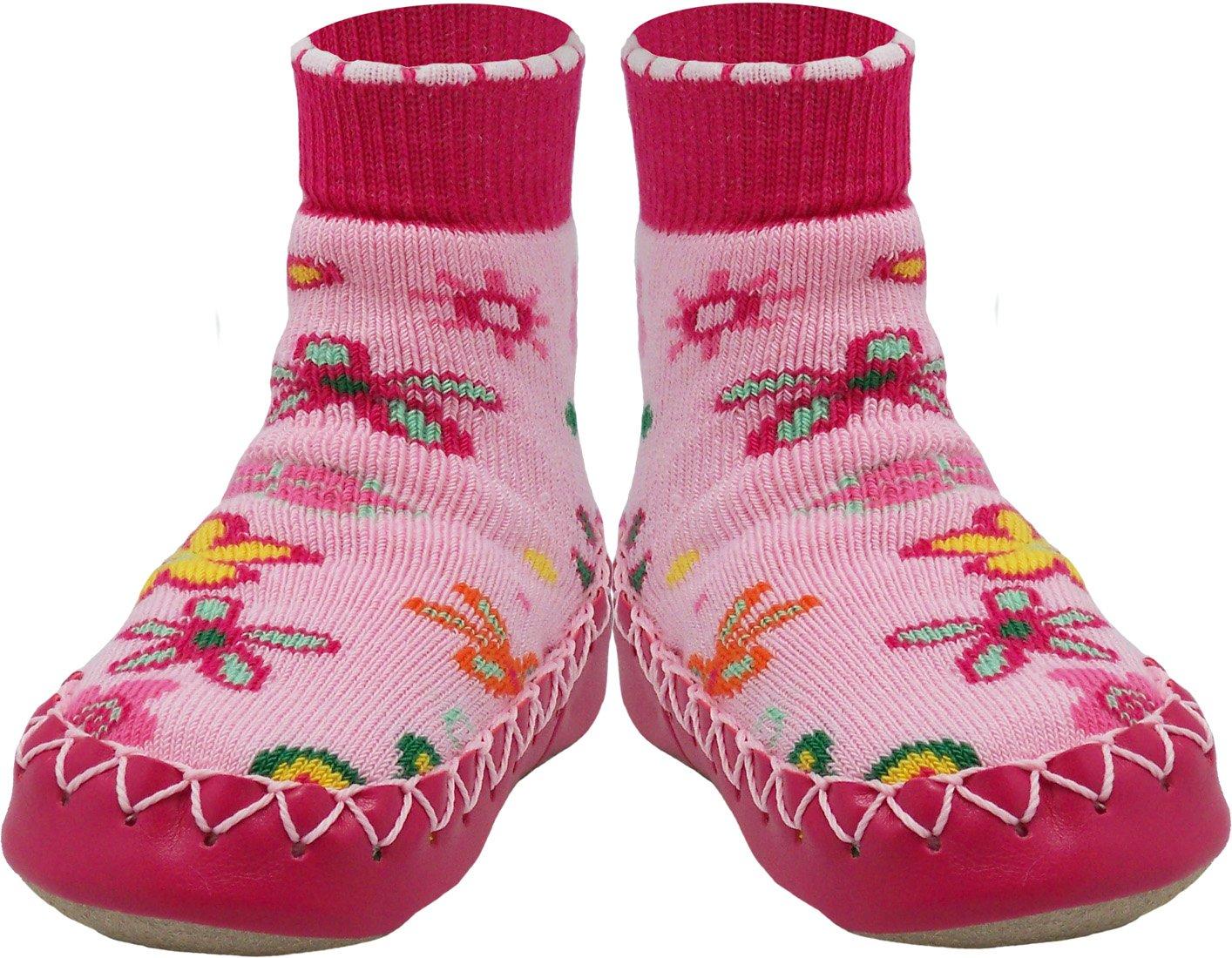 Konfetti Wolf Moon Swedish Moccasin Slipper Sock