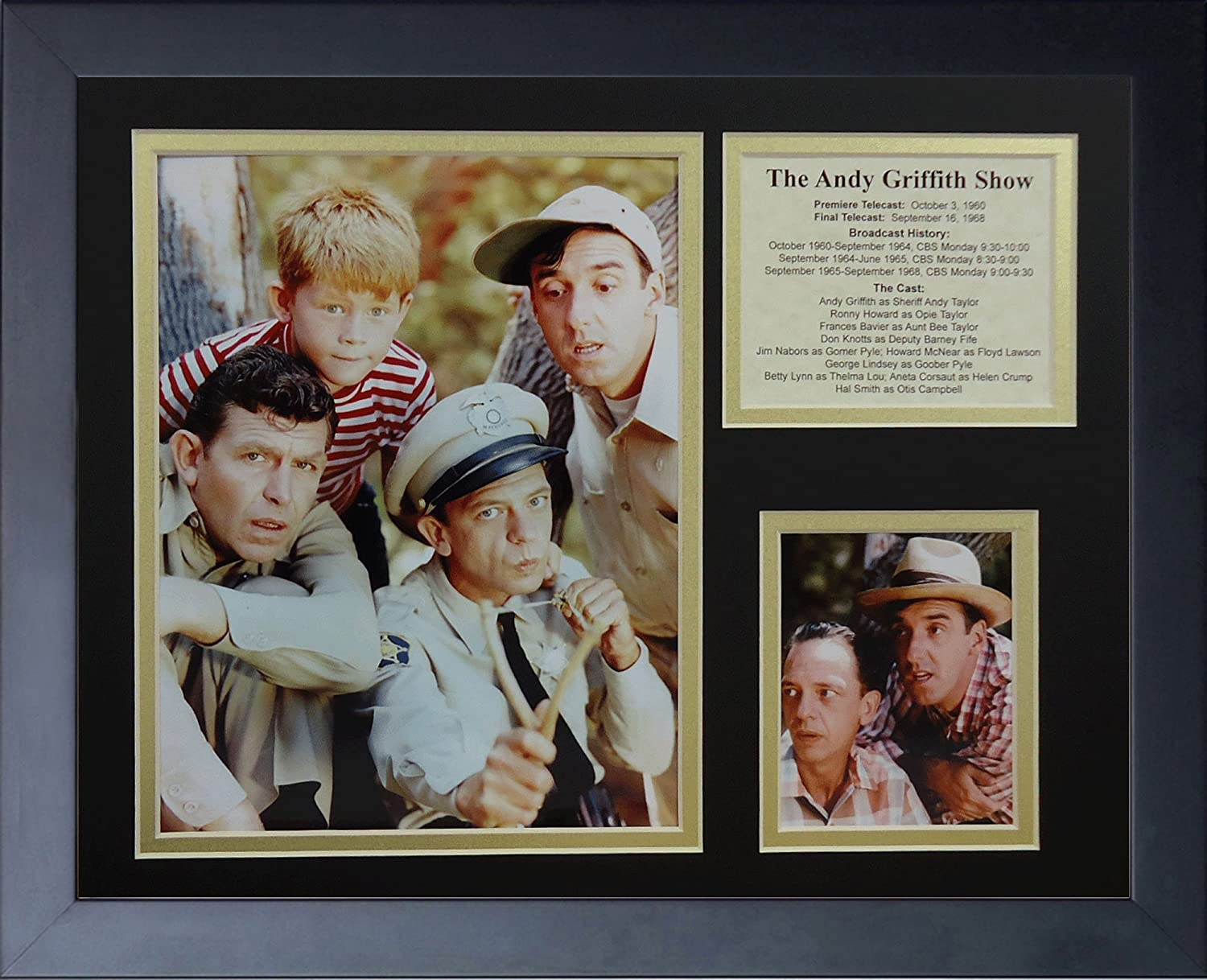 11 x 14-Inch Legends Never Die Andy Griffith Color Framed Photo Collage