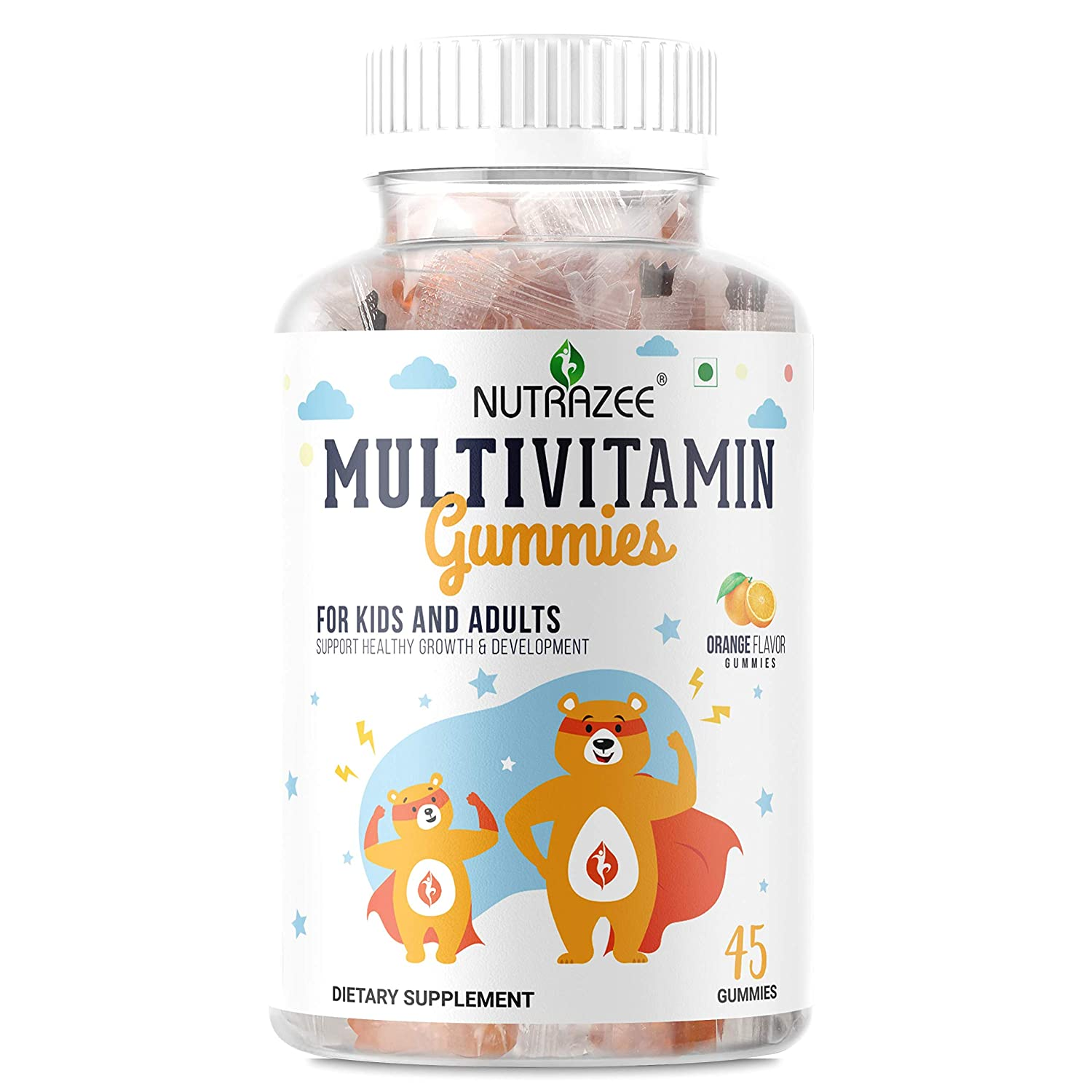 Nutrazee Complete Multivitamin Vegetarian Gummies For Growth, Development & Immunity, 45 Gummy Bears