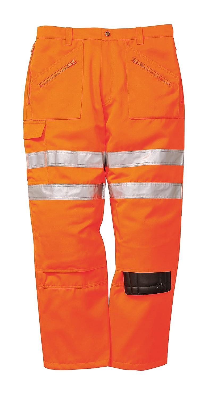 talla Small Pantalones de acci/ón ferroviario Portwest RT47 color naranja