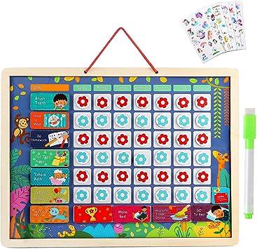 Lewo Calendario Infantil Magnético Calendario Diario Juguetes de ...