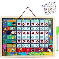 Lewo Calendario Infantil Magnético Calendario Diario Juguetes