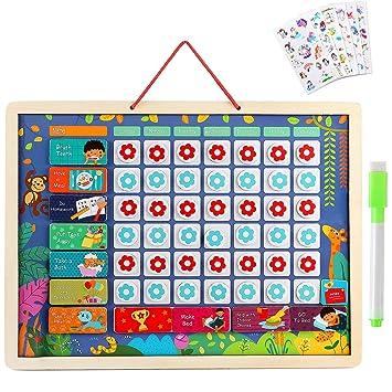 Lewo Calendario Infantil Magnético Calendario Diario ...