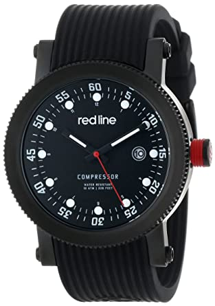 amazon com red line men s rl 18000 01 bbwset compressor black dial
