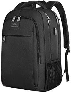 a173b6e2c MATEIN Business Laptop backpack, Travel Waterproof Rucksack with USB  Charging Port for…