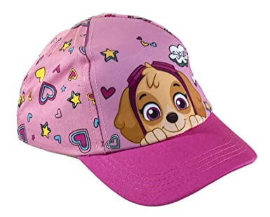 Official Licensed Girls Paw Patrol Skye Baseball Cap Age 2-6 Years Heart and Star Design