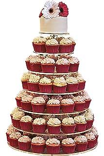 JusalphaR Large 7 Tier Acrylic Round Cake Stand Cupcake Dessert