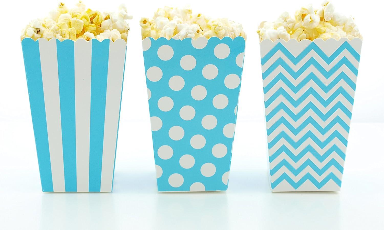 STOBOK 12 PCS Bowknot Popcorn Bo/îtes Snack Impression Bo/îte De Bonbons Bo/îte De Bonbons Contenants De Bonbons Enfants Traiter des Sacs F/ête danniversaire Fournitures Arc Rose