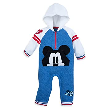 73a768af0 Image Unavailable. Image not available for. Color: Disney Mickey Mouse  Hooded Romper for Baby Size 18-24 MO Multi