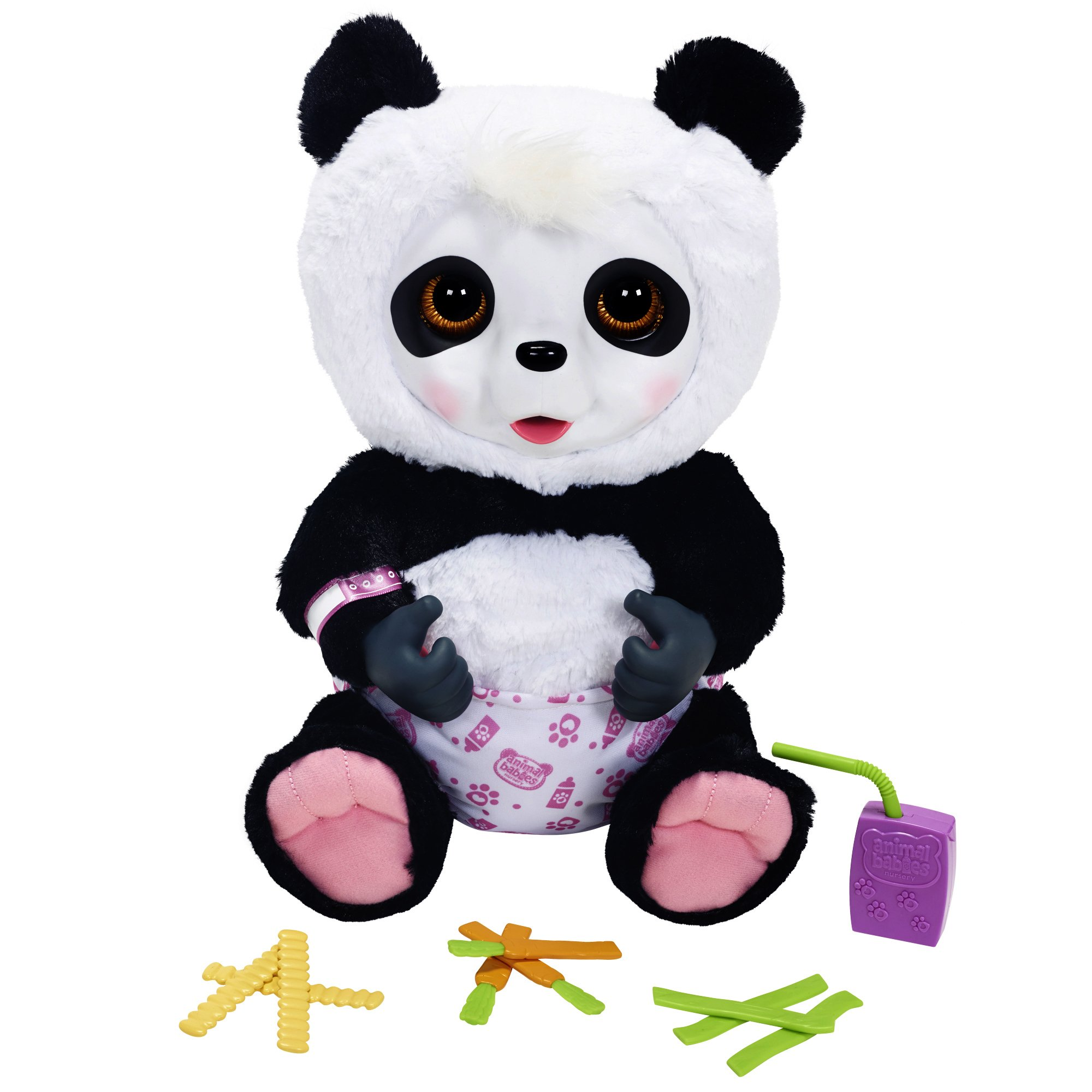 Animal Babies Feature Crunchy Munchy Baby Panda Plush by Animal Babies