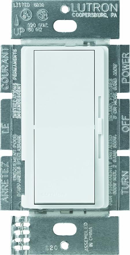 lutron dvelv-300p-wh 300-watt diva electronic low voltage single pole dimmer