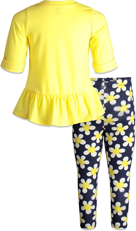 Disney Minnie Mouse Girls Long Sleeve Peplum Top /& Legging Set