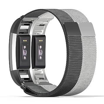 Fitbit Charge 2 Bracelet et Connecteur, MoKo en acier inoxydable un Replacement de Bracelet +