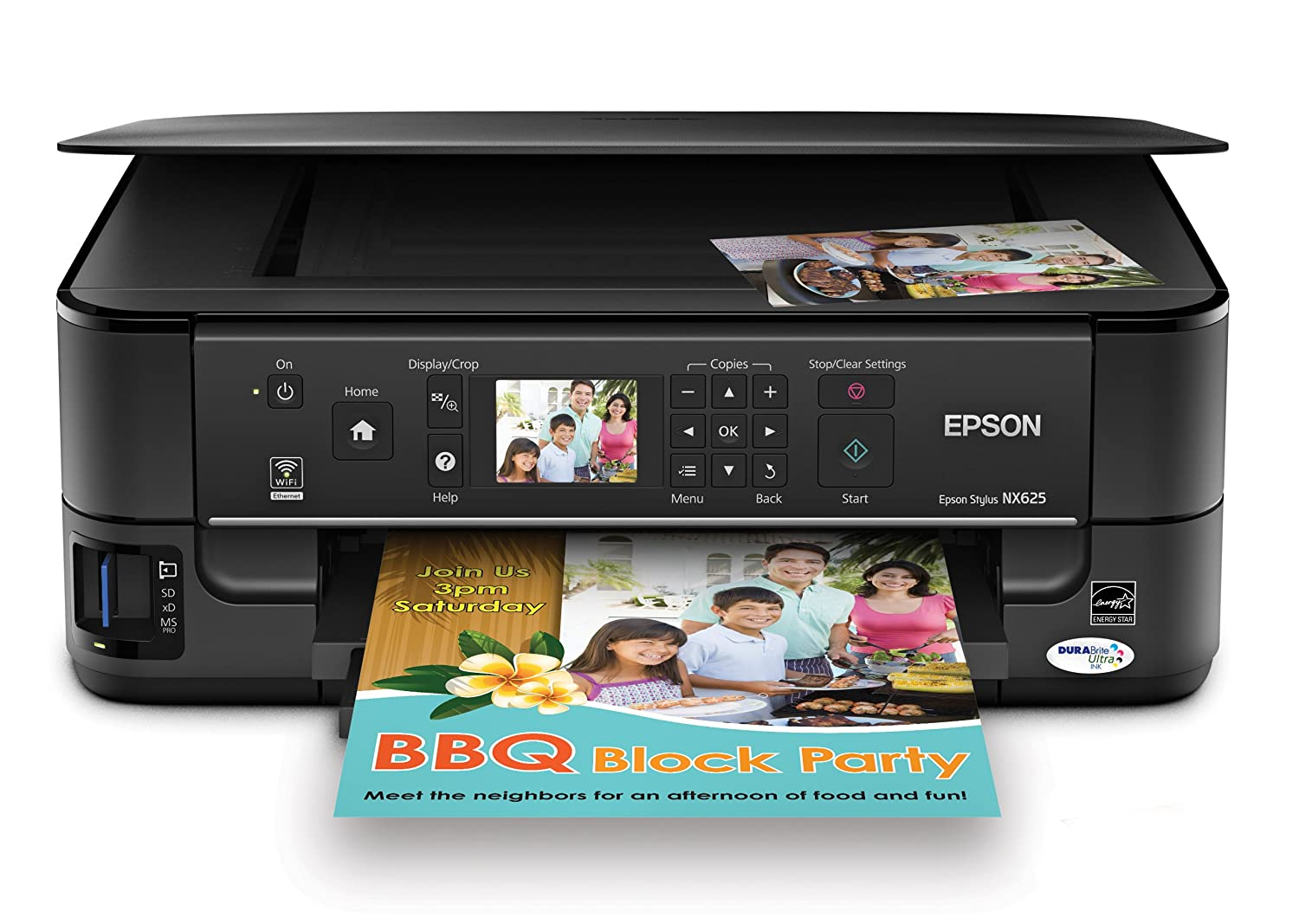 Amazon.com: Epson Stylus NX625 Wireless All-in-One Color Inkjet Printer,  Copier, Scanner (C11CA70271): Electronics
