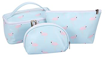 f8be03922150 HOYOFO Makeup Bags Flamingo Travel Cosmetic Case Toiletry Storage Bag for  Women, 3 PCS/Set
