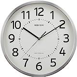 リズム時計 掛け時計 電波 アナログ フィットウェーブM508 連続秒針 オフィス モデル 見やすい 大きな文字 銀色 RHYTHM 8MY508SR19