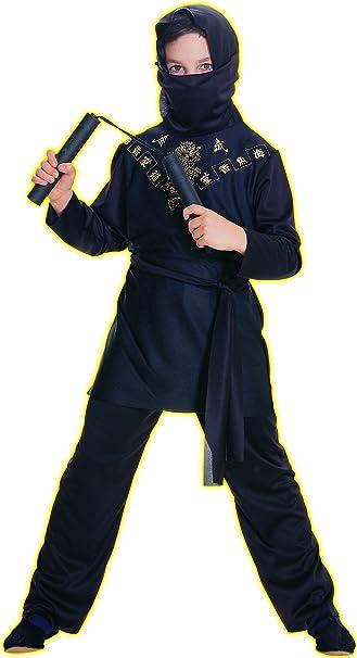 Amazon.com: Disfraz Rubies de ninja negro para niños ...