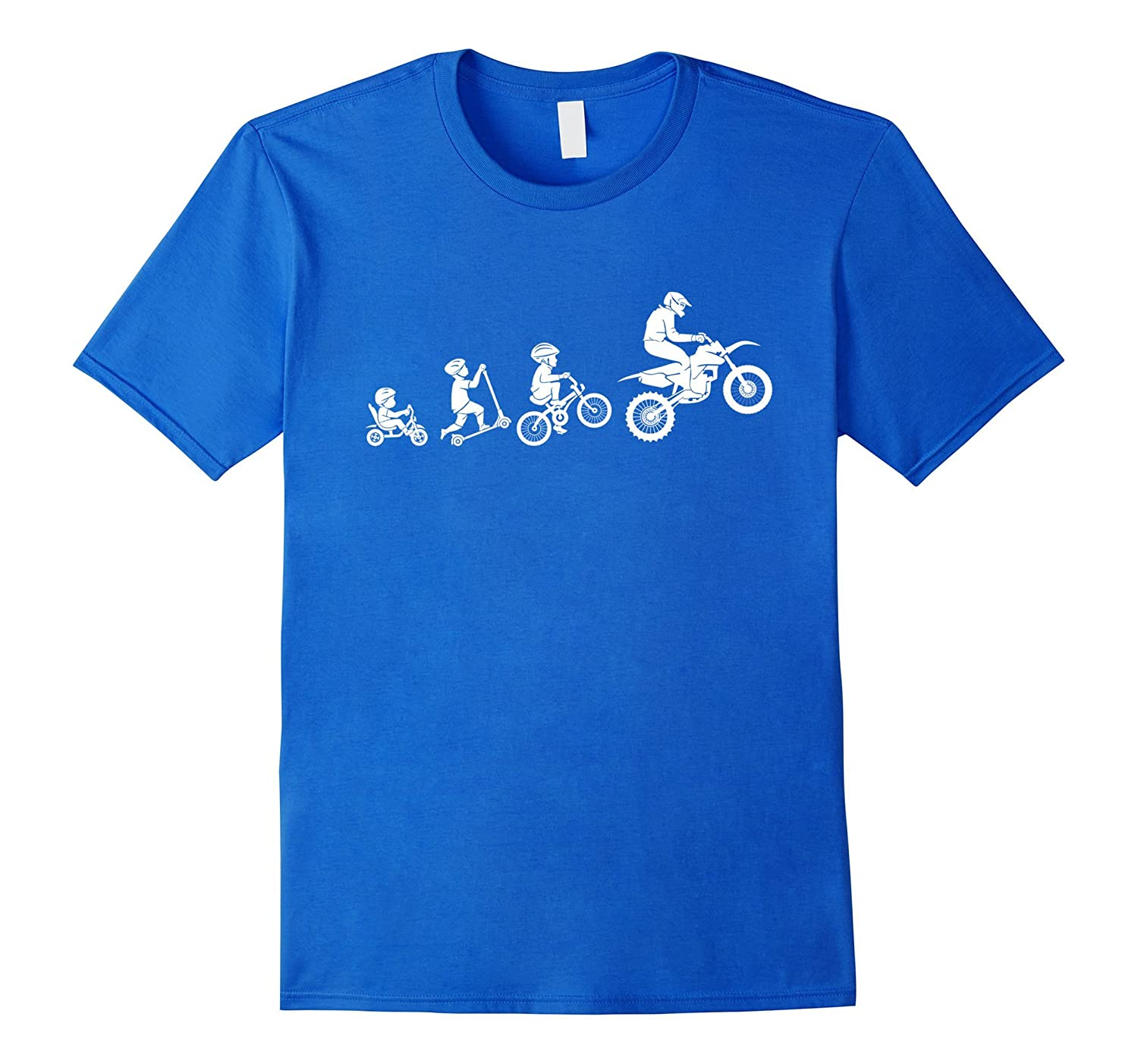Motocross Evolution Funny Motorcycle T-shirt-CL