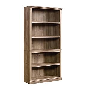 Sauder 5-Shelf Bookcase, Salt Oak finish