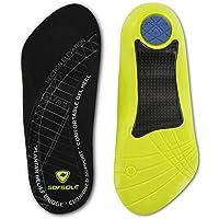 Sof Sole Men's Plantar Fascia Gel Shoe Insole for Heel Spurs and Plantar Fasciitis, Men's 8-12
