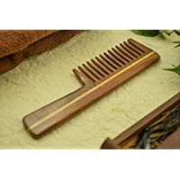 """SVATV Handcrafted RoseWood Comb with Handle S- 81A (7""""X1.5"""")"""