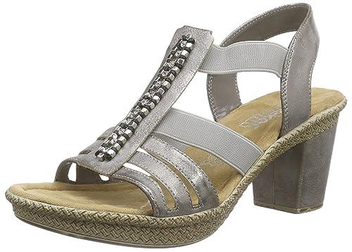 66584-40, Womens Heels Sandals Rieker