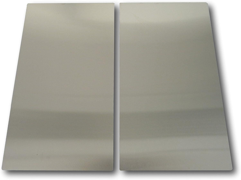 2 pieza calientaplatos Acero Inoxidable Cubierta Placa herdabdeckung para vitrocerámica inducción hobs Horno