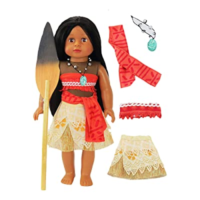 "Moana Inspired Outfit with Wooden Paddle | Fits 18"" American Girl Dolls, Madame Alexander, Our Generation, etc. 